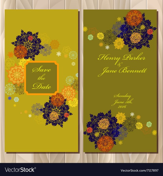 Winter Snowflakes Design Wedding Invitation Card