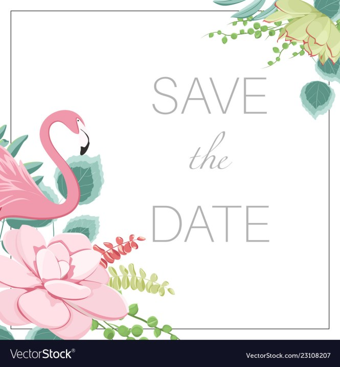 Save The Date Wedding Marriage Event Invitation