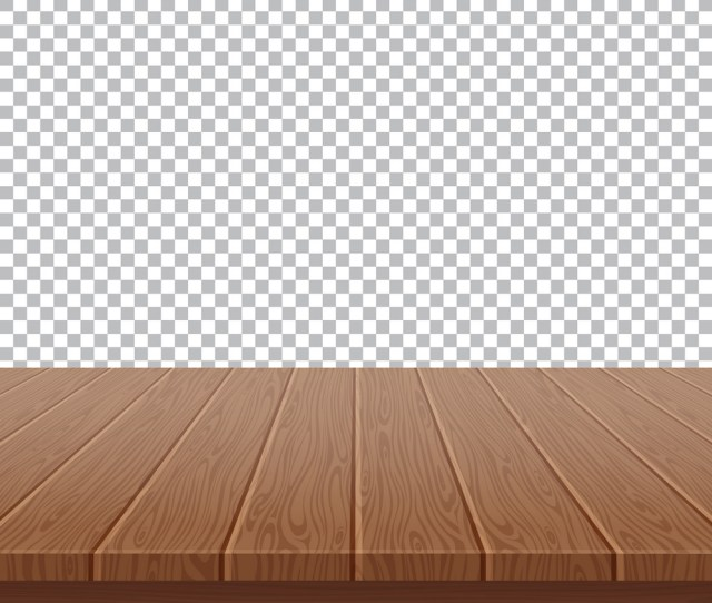 Wood Table Top On Isolated Background Vector Image