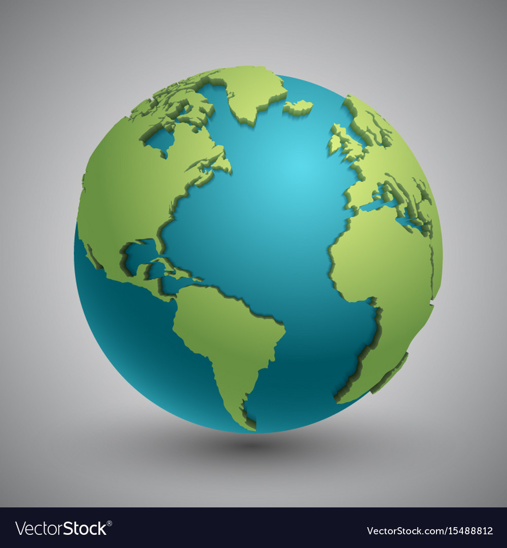 Vector Earth Continents Clipart Vector Design
