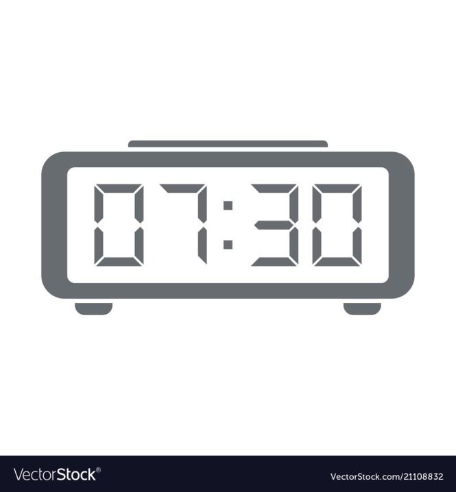 Digital Alarm Clock Icon Royalty Free