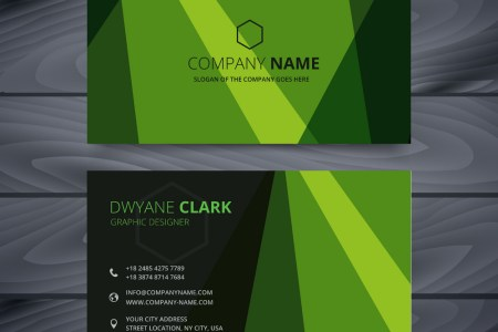 Green business card design template Royalty Free Vector Green business card design template vector image