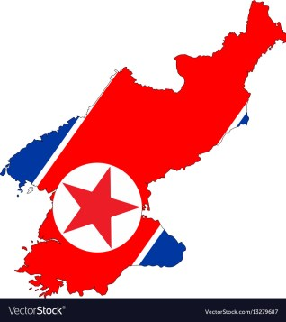 North korea map Royalty Free Vector Image - VectorStock