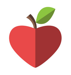 Download Hamburger and apple halves Royalty Free Vector Image
