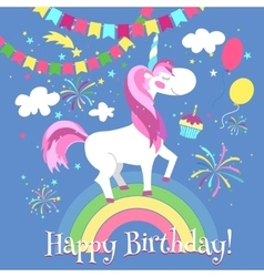 Happy Birthday Unicorn Vector Images Over 4 400