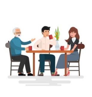 lunch in restaurant