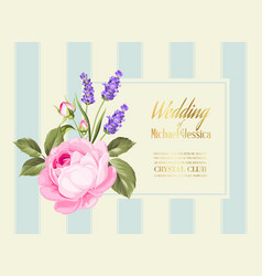 purple floral birthday invitation vector images over 1 600