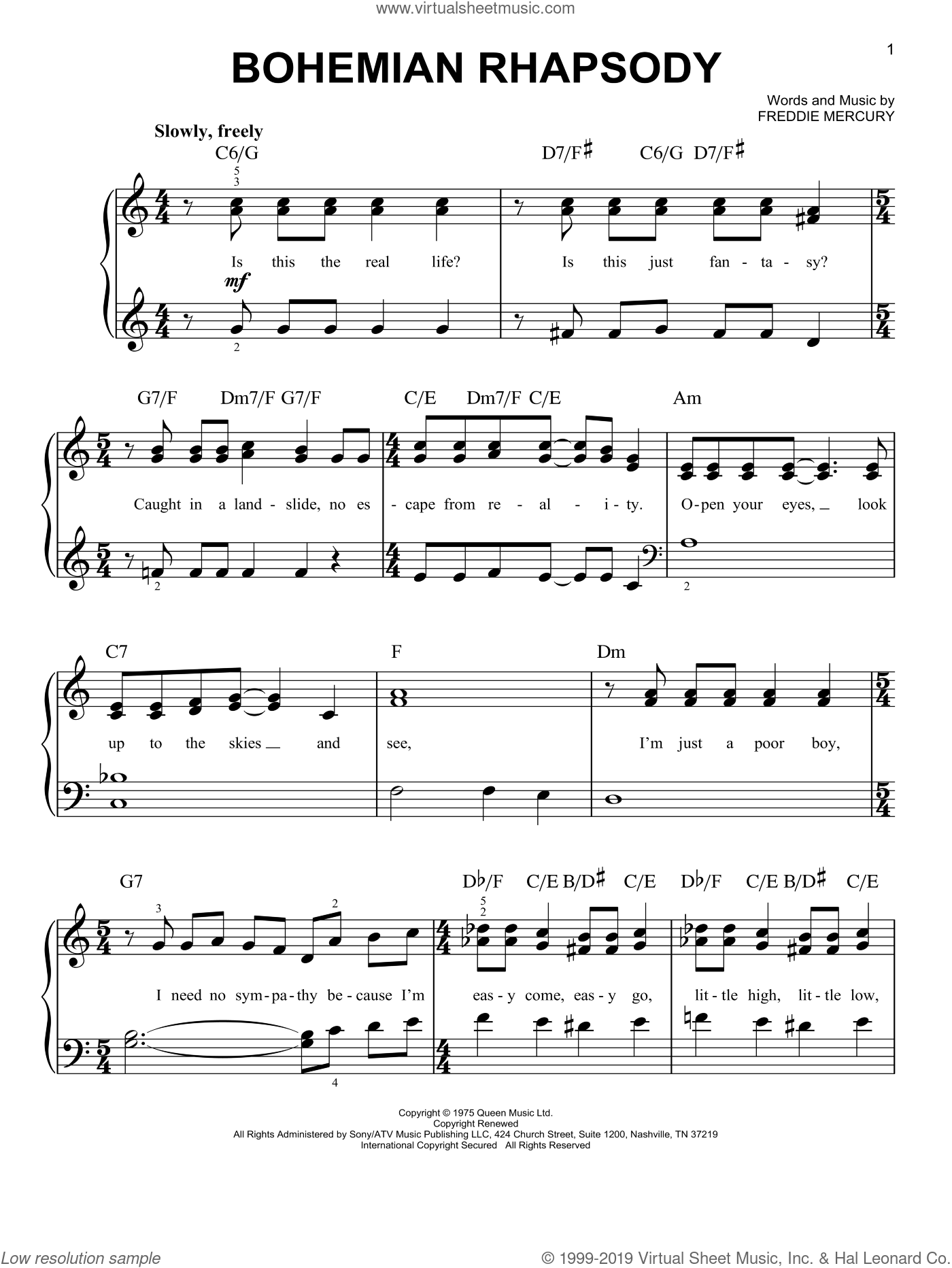 Easy Piano Music With Note Names