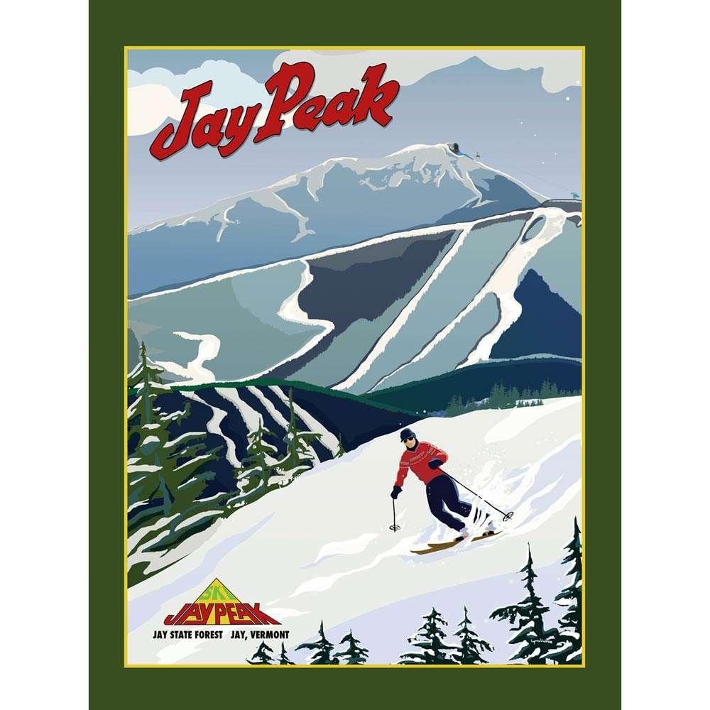 jay peak ski resort poster 18 x 24 inches