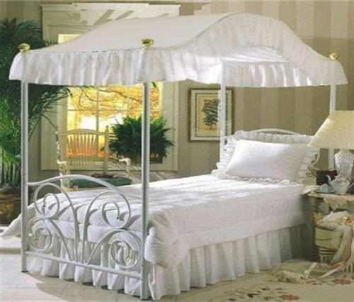 canopy bed drape fabric top queen size solid white perfect for your existing canopy bed frame