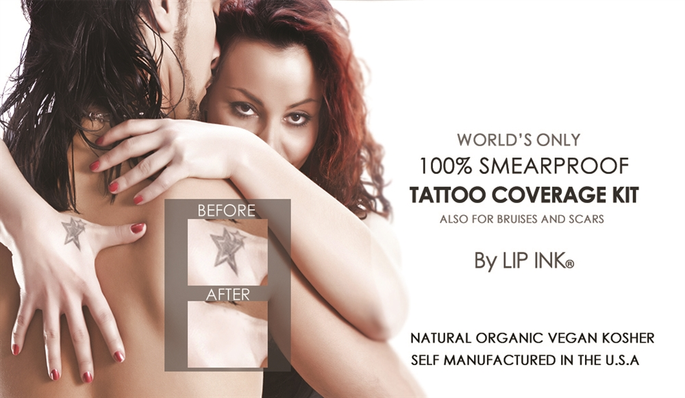 Smearproof & Waterproof Tattoo, Bruise & Scar Cover-Up