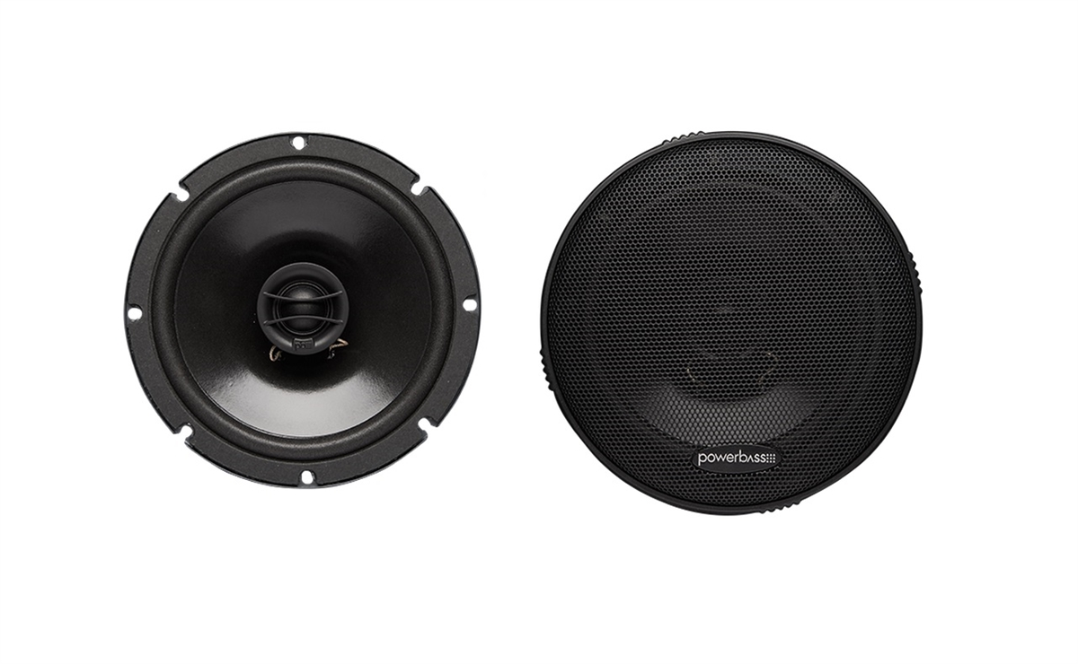 "Powerbass S-650T 6.5"" 135 Watts 2-Way Thin Mount Speakers"