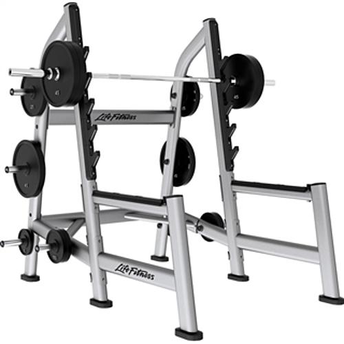 life fitness signature olympic squat rack remanufactured