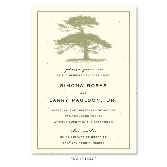 Tree Themed Wedding Invitations Pine Gap By Foreverfiances