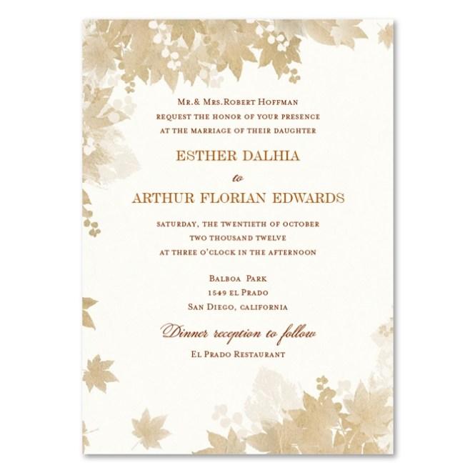 Vintage Fall Wedding Invitations By