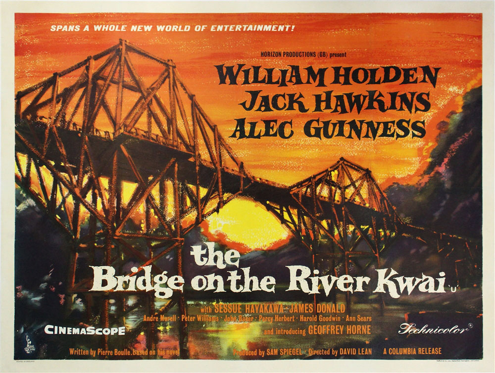 Image result for bridge over river kwai movie poster