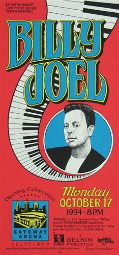 billy joel original concert poster