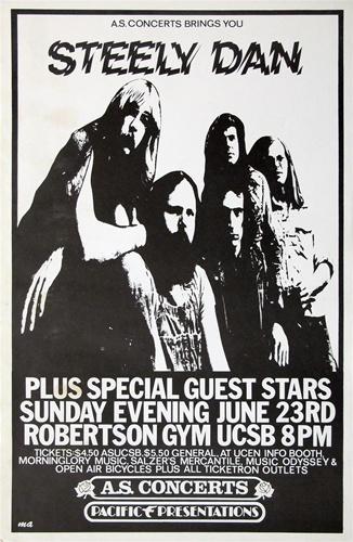 steely dan original concert poster