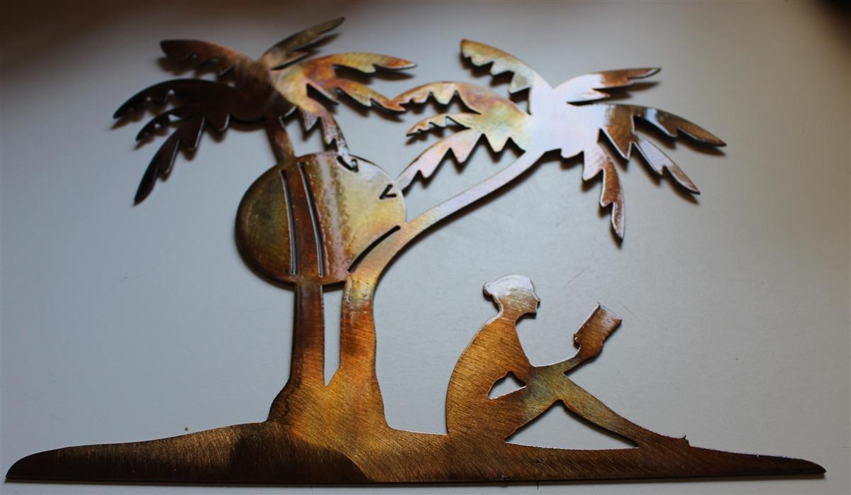 Palm Tree Metal Wall Art