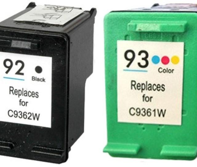 Hp C936 Series Hp 92 93 Remanufactured Ink Cartridge Two Pack Value Bundle