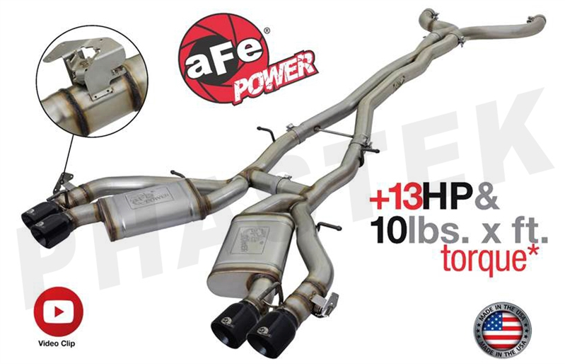 afe power mach force xp cat back exhaust 49 34069 2016 2018 camaro ss coupe w manual