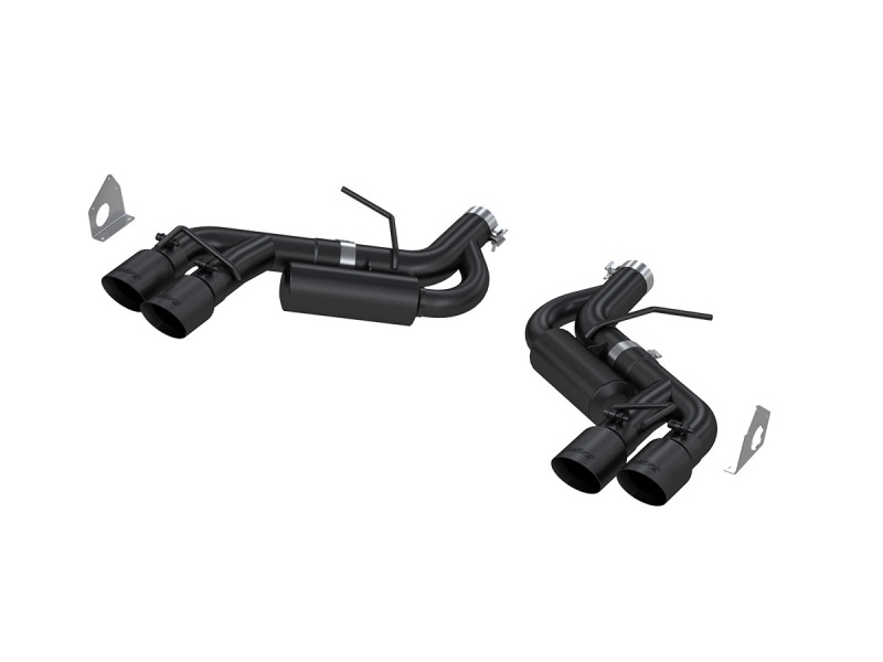 mbrp black series 3 dual axle back exhaust system w 4 quad tips black coated 2016 2021 camaro ss zl1