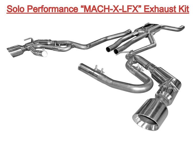 solo performance mach x lfx cat back exhaust kit 2012 2015 camaro ls lt v6 coupe convertible