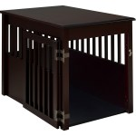 Ruffluv Large Pet Crate End Table Cappuccino Finish