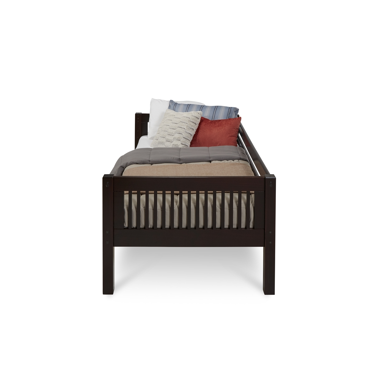 Camaflexi Twin Size Day Bed Mission Headboard Cappuccino Finish