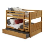 Full Over Full Low Bunk Bed Trundle Panel Natural