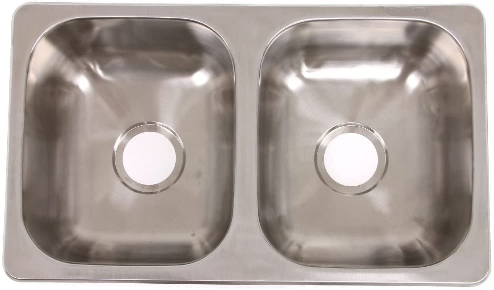 lasalle bristol 13tlsb27167 rv drop in double bowl kitchen sink 27 x 16