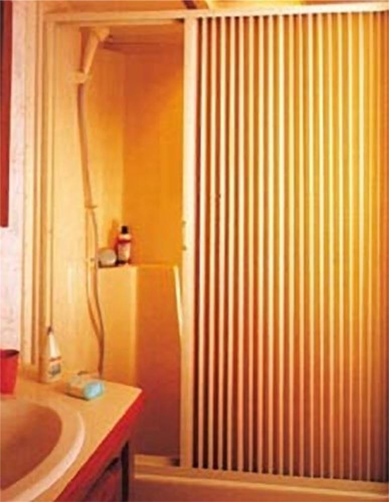 irvine 4857si rv pleated shower door 48 w x 57 h ivory