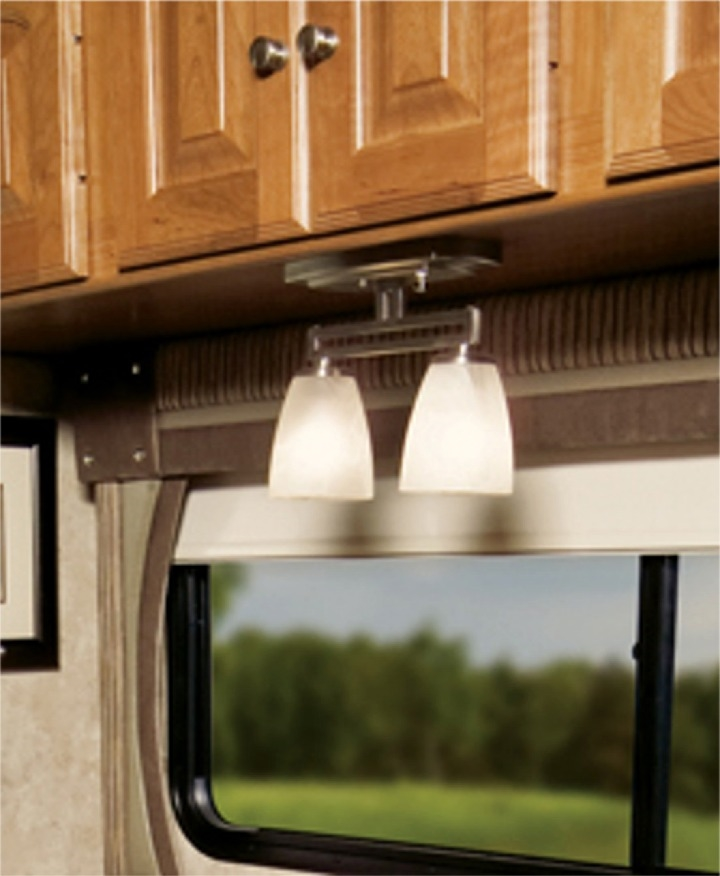 itc 3430f s93427000 mirage mission series two arm dinette rv light nickel