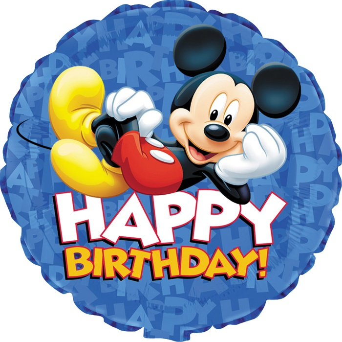 18 Inch Disney Mickey Mouse Happy Birthday