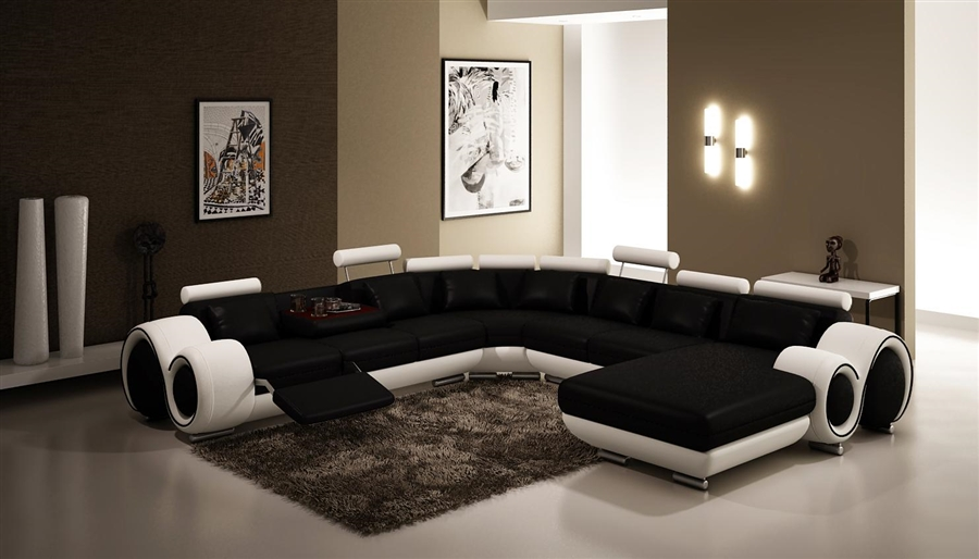 contemporary italian design black white franco modern sectional designer sofa