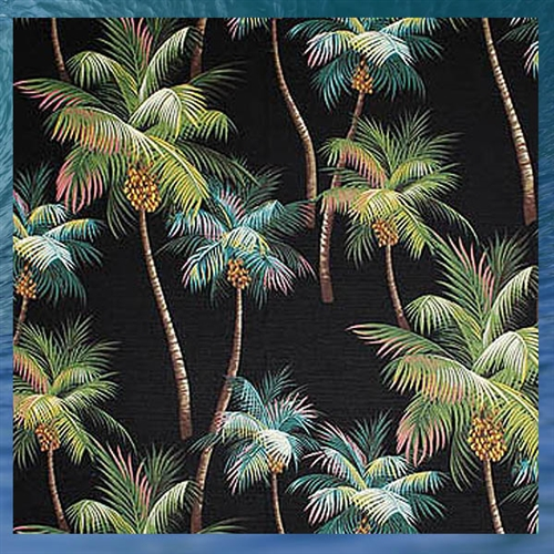 palm tree shower curtain black