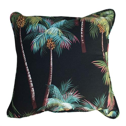 palm tree throw pillow 18 x 18 black