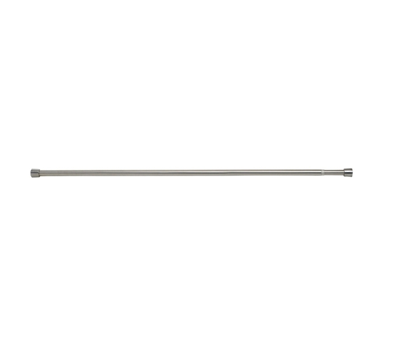 extra long tension rod brushed stainless steel