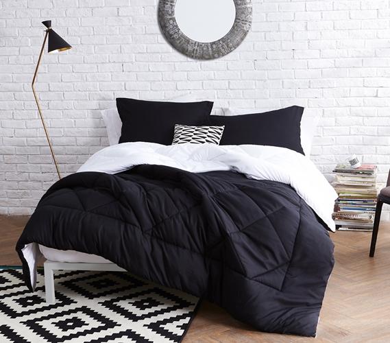 Black White Reversible Twin Xl Comforter