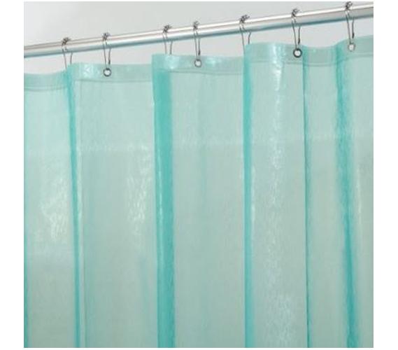 ikat green blue shower curtain