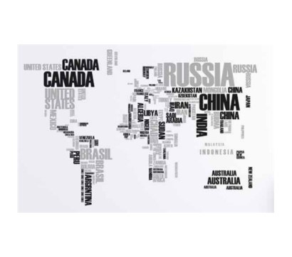 XL World Map Word Wall Art   Peel N Stick Wall Decor For College     Super Cool Design   XL World Map Word Wall Art   Peel N Stick   Enhance