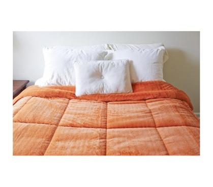 College Plush Comforter Orange Ochre Twin Xl Dorm