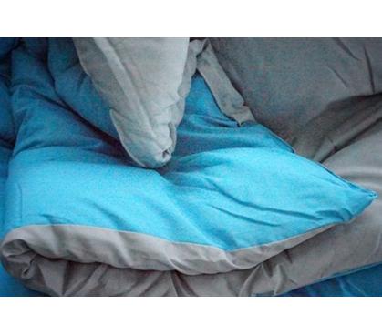 Aqua Gray Reversible Comforter Twin XL Bedding Comfortable Soft Extra Long Dorm Bed Comforters