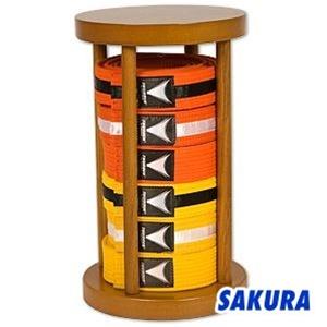 accessories item acc 7005 a1 belt rack wood rank belt display rack round stacker 10 belt rack 10 belt unit class sak 01