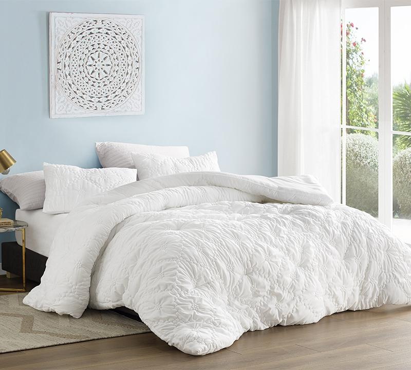 farmhouse morning textured bedding oversized king comforter