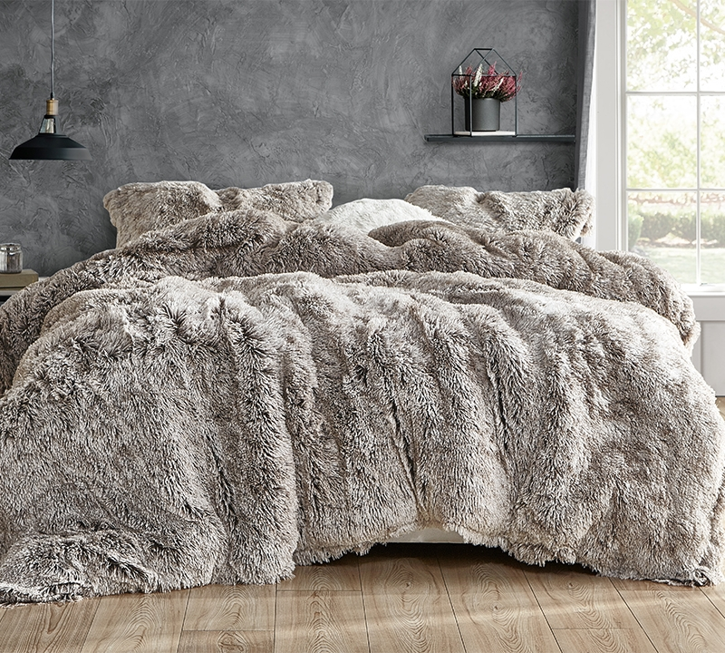 are you kidding coma inducer oversized comforter frosted chocolate
