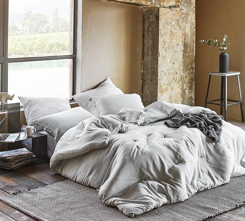 modal yarn dyed passive gray oversized king comforter