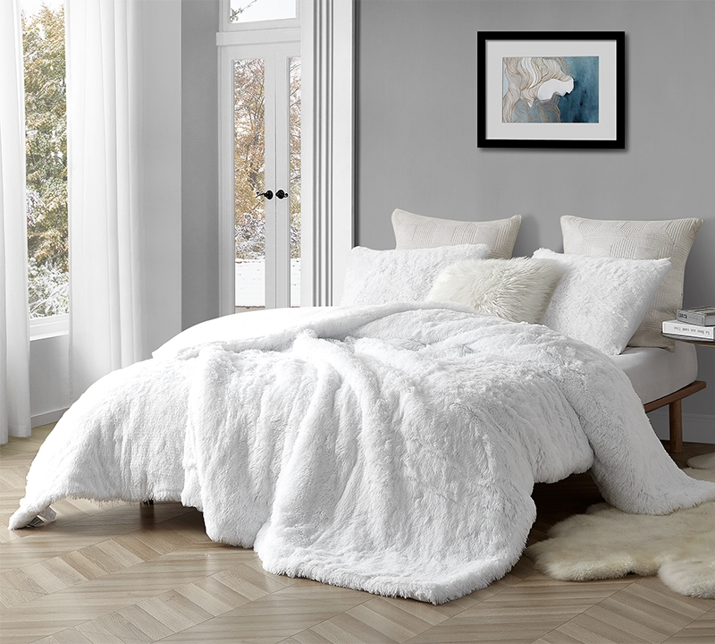 coma inducer oversized king comforter are you kidding white