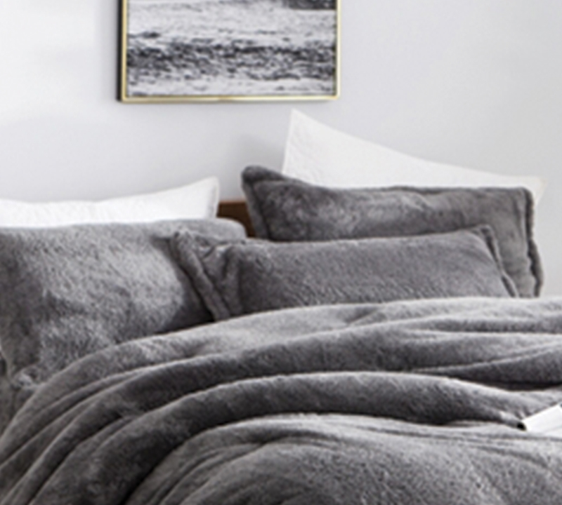 most comfortable king size pillow sham coma inducer the original charcoal gray soft king bedding
