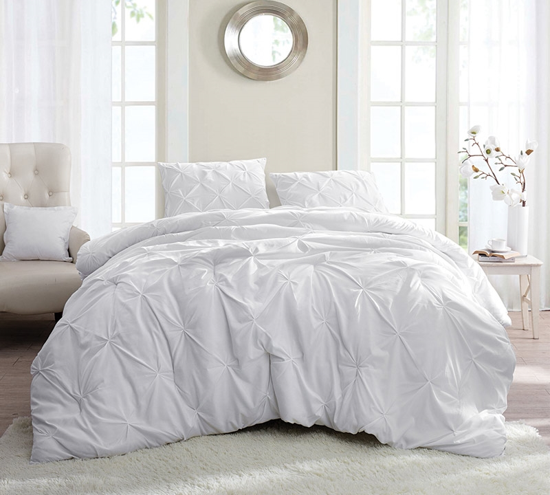 white pin tuck king comforter oversized king xl bedding